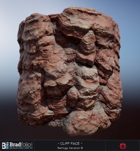 Substance: Red Cliff Face | Settings Variation B