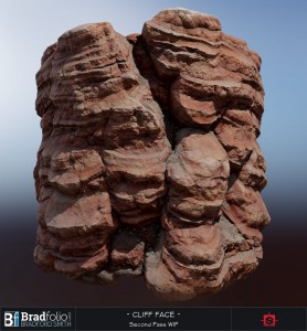 Substance: Red Cliff Face WIP