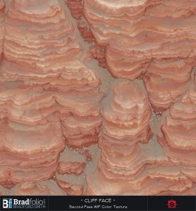 Substance: Red Cliff Face WIP Color Texture