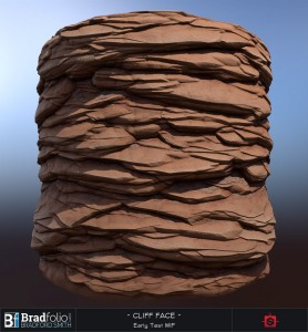 Substance: Red Cliff Face Early WIP