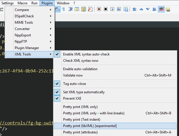 Notepad++ XML Tools Pretty Print Instructions
