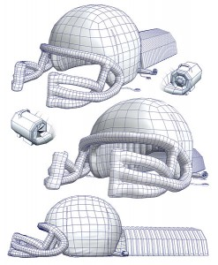 Inflatable Helmet Model