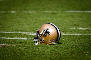 New Orleans Saints at Tampa Bay Buccaneers Players Helmet