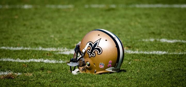 New Orleans Saints at Tampa Bay Buccaneers Players Helmet