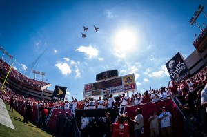 New Orleans Saints at Tampa Bay Buccaneers Jets Fly by