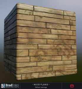 Polycount Weekly Substance Challenge #3 | Wood Planks | Default Settings