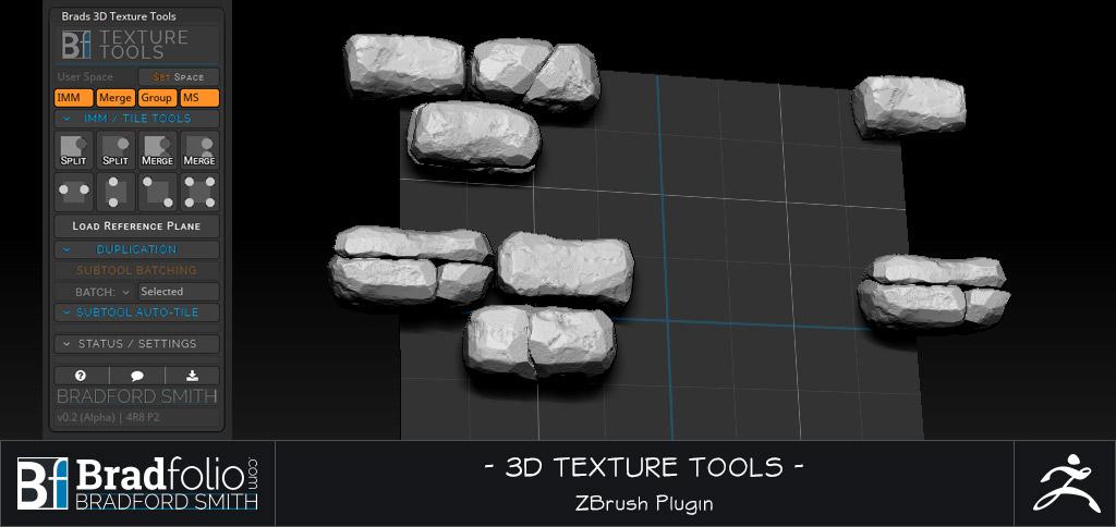 ZBrush Plugin: Texture Tools | Bradfolio